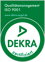 We are certified according to DIN ISO 9001:2008